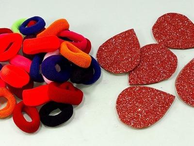 DIY HOME DECO | DIY Hair rubber bands craft idea | DIY art and craft