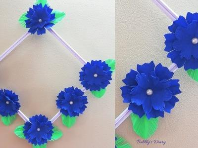 DIY Paper Flower Wall Hanging - Wall Hanging Craft Ideas - DIY Room Decor 2019