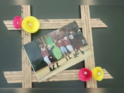 DIY- Photo frame from newspaper.Newspaper craft