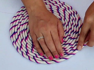 !! DOORMAT !! AWESOME WOOLEN CRAFT DOORMAT MAKING WITH ROPE \ BEST REUSE ROPE FOR DOORMAT CRAFT ||