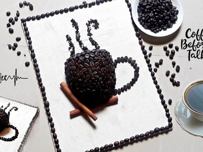Easy DIY craft with coffee beans