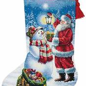 CRAFTS Holiday Glow Stocking Cross Stitch Pattern***LOOK***