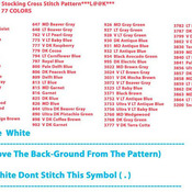 Holiday Glow Stocking Cross Stitch Pattern***LOOK***X***INSTANT DOWNLOAD***