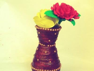 How to make news paper flower pot diy paper craft #rsrdcreative #newspaperpot #papercraft