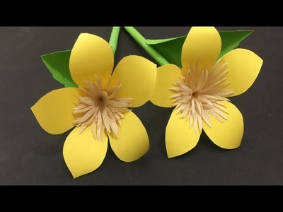 How to Make Paper Flowers #62, DIY PAPER, decoration craft interior, crepe paper,origami flowers