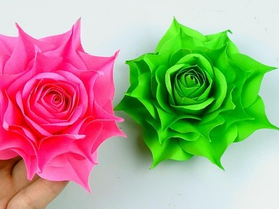 How To Make Realistic Rose paper flower - Beautiful Paper Flower - Handmade Craft