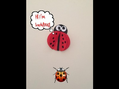 Paper craft , how to make ladybug ???? for kids . .