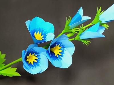 Paper Craft: Paper Flower Decoration Idea - DIY Stick Flower - Handcraft - Jarine's Crafty Creation