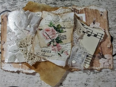 Paper & Lace  Junk Journal Embellishment Craft With Me