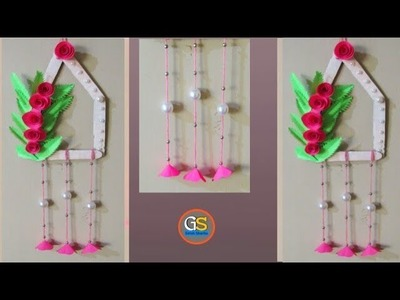 Wow!!! Easy And Simple Craft || How To Make A Beautiful Paper Wall Hanging