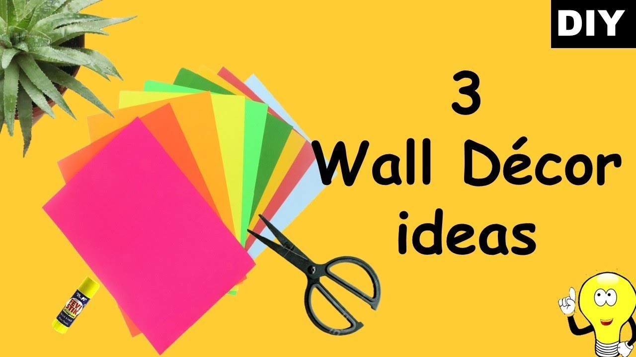 3 wall decor ideas with paper | how to make wall decor using paper | Easy and inexpensive ideas