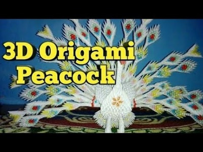 #art & craft lover#3DOrigamiPeacock How to make 3D  Origami Peacock.DIY 3D ORIGAMI PAPER PEACOCK