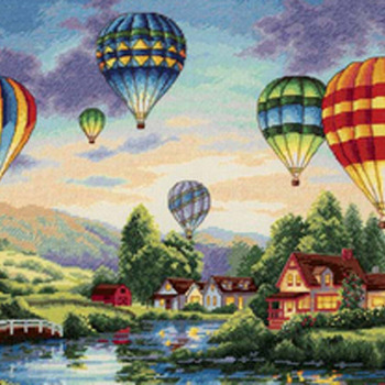 CRAFTS Balloon Glow Cross Stitch Pattern***LOOK*** PREVIEW A SAMPLE OF MY PATTERNS DETAILS BELOW