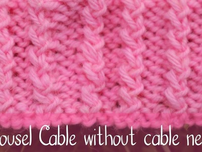 Carousel Cable | Easy Fake Cable with 2 Stitches | Knitting
