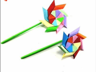 Crafts paper - How to make Pinwheel 3D paper step by step