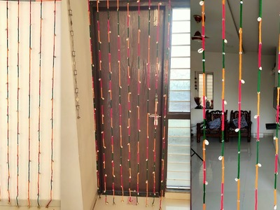 DIY Door Hanging | How to Make Door Hanging Toran at Home | Woolen Crafts Idea