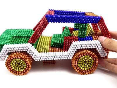 DIY - How to make a convertible SUV with a magnetic ball. It's so beautiful!