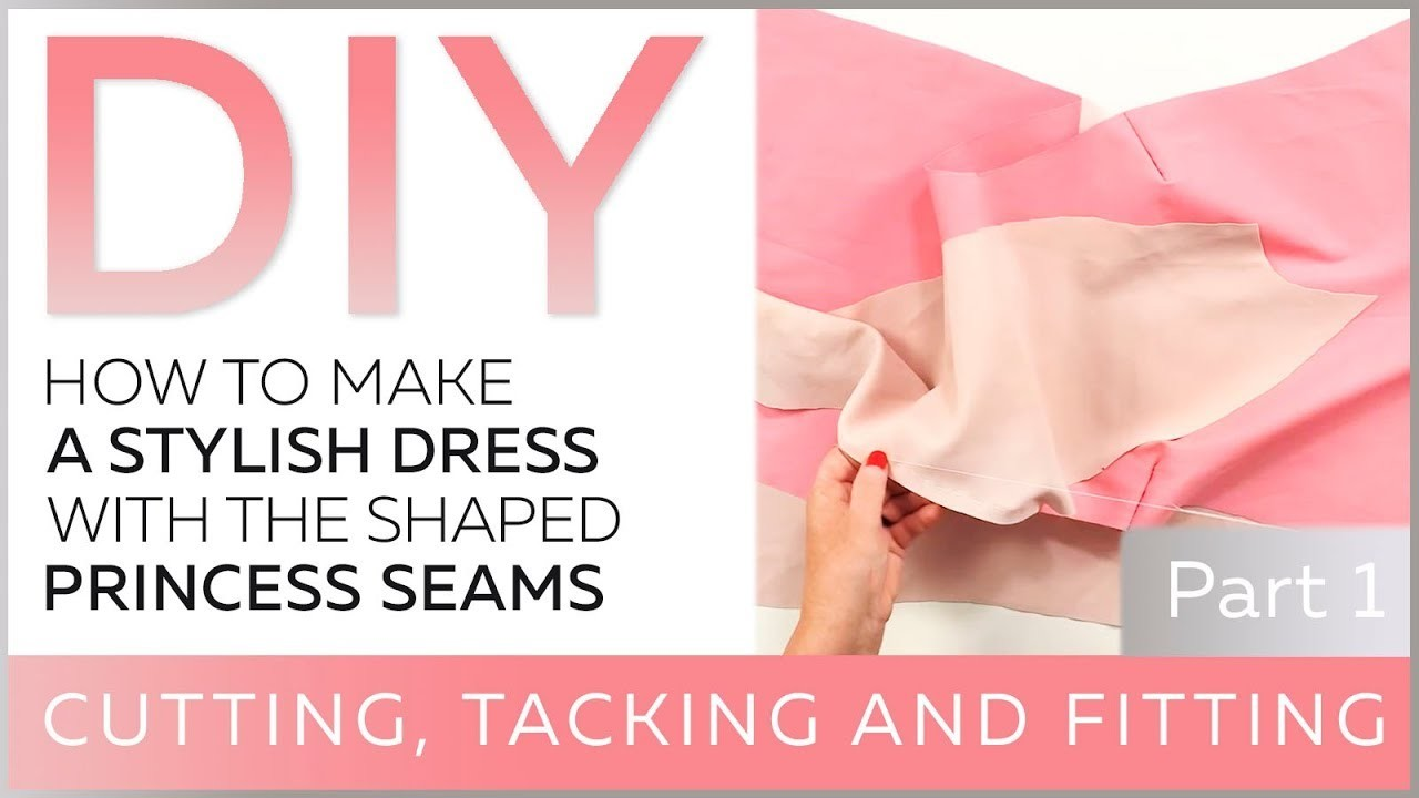 DIY: How to make a stylish dress with the shaped princess seams. Cutting.