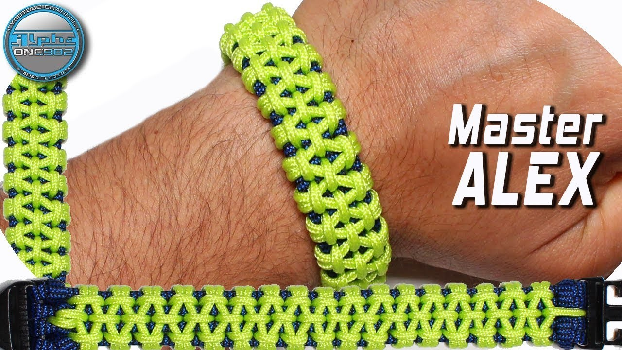 DIY Paracord Bracelet Master Alex Knot   World Of Paracord   How to make Paracord Bracelet Tutorial