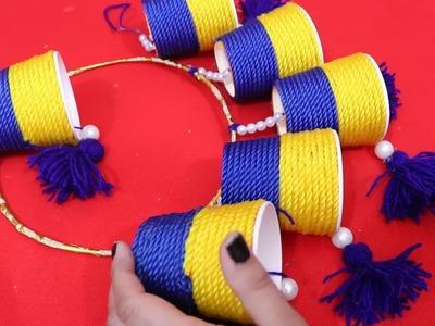 DIY Woolen Door Hanging ideas| How to make Door Hanging Toran Woolen Craft Ideas | Diwali Decoration