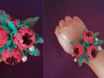 Foam flowers.how to make foam flowers.foam flowers diy.flower making tutorial. #shiluverma