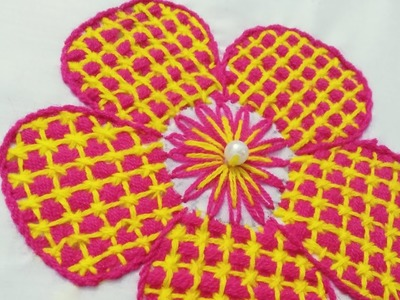 Hand Embroidery | How to make  Fantasy Flower Embroidery Tutorial | Fantasy Flower Stitch.
