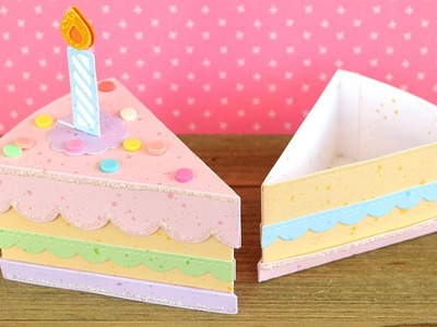 How to create a cute birthday cake treat box