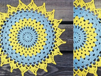 How To Crochet Easy Doily Placemat Mandala