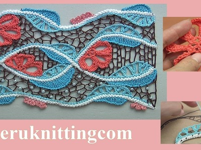 How to Crochet Sea Irish Lace Project Tutorial 12 Part 2 of 2