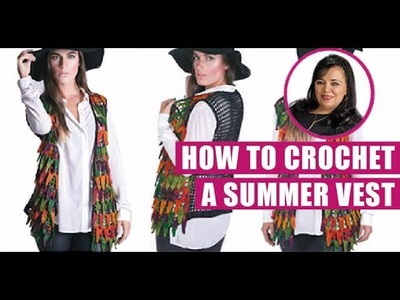 HOW TO CROCHET THIS SUMMER VEST  - EASY AND FAST - BY LAURA CEPEDA