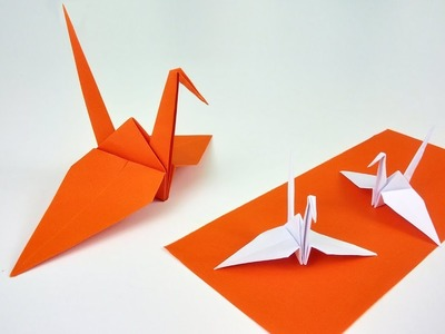 How to Fold a Japanese Lucky Bird - Origami Crane. Tsuru