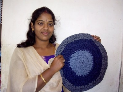 How to increase next round for round shape door mat | home hacks in tamil | door mat in tamil