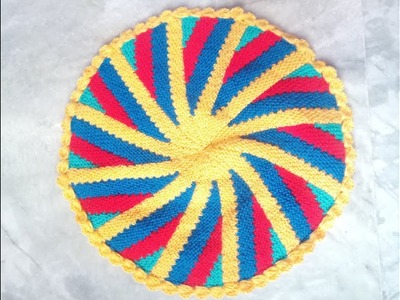 How to Knit a Thaalposh.Table Mat.aasn|Hindi