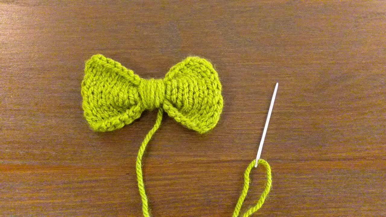 How to Knit Bow ( Stockinette Stitch ) in Any Size, Any Yarn, Any Gauge By Clydknits.