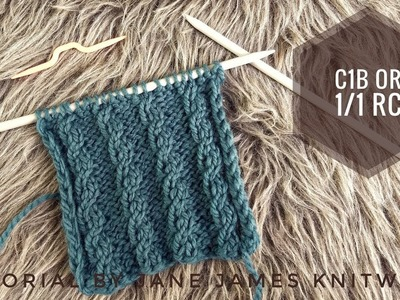 How To Knit C1B or 1.1 RC - Knitting Tutorial (2019)