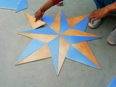 How to make 3D floor tile design with cutting and full details