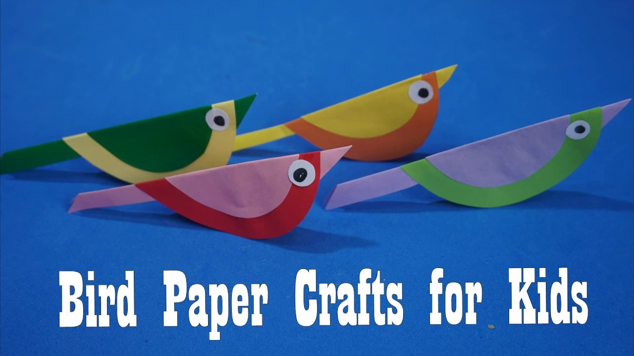 How to make a Bird  paper | Bird Paper Crafts for Kids