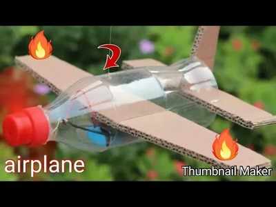 How to make a bottle airplane