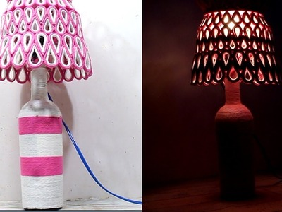 How to make a Lamp with Woolen and Newspaper for your Bedroom