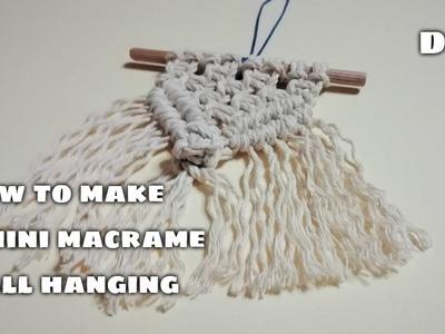 How to make a mini macrame wall hanging *easy macrame tutorial*