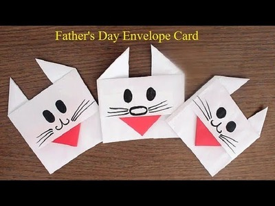 How to make a paper Envelope Card for Father's Day. .Super Easy Envelope Card for Father's Day.