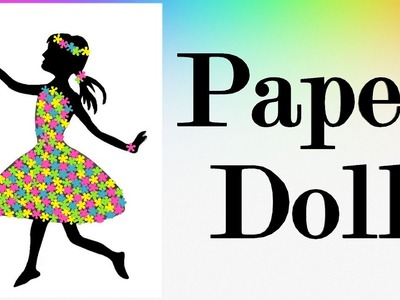 How to make a Paper Flower Doll - DIY - Very Easy