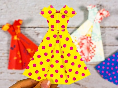 How to make an Origami Paper Dress | Beautiful DIY Paper Dress | Paper Folding Craft