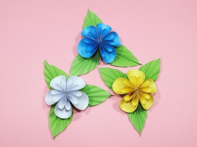 How to Make Beautiful Paper Flower - Origami Paper Flowers Making - DIY Paper Crafts