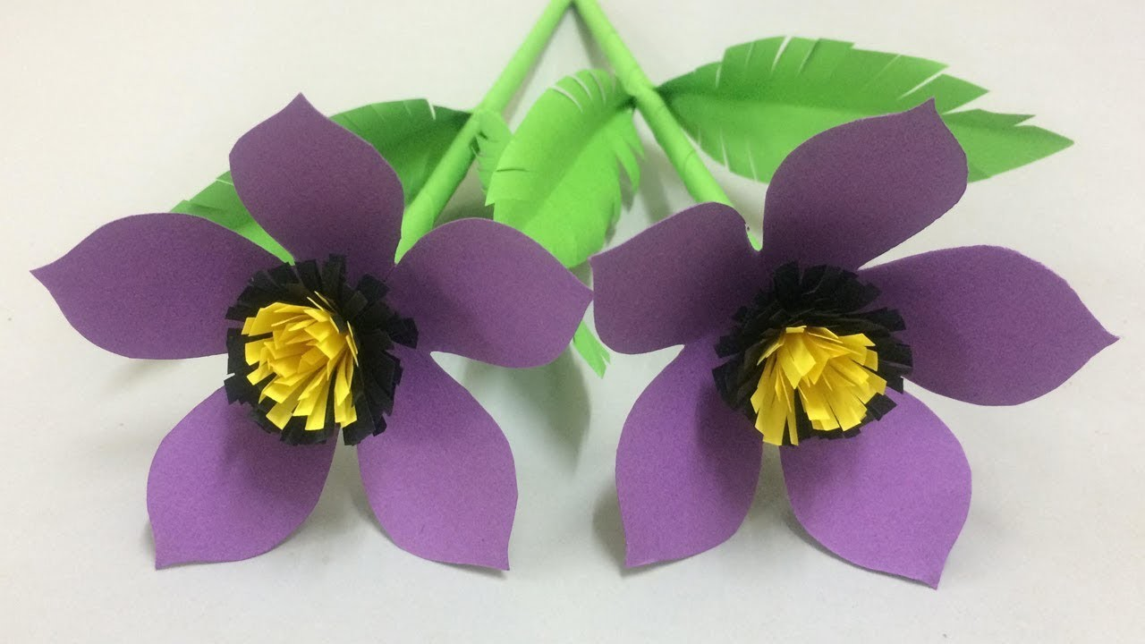 How to Make Beautiful Paper Flower - Making Paper Flowers Step by Step - DIY Paper Crafts