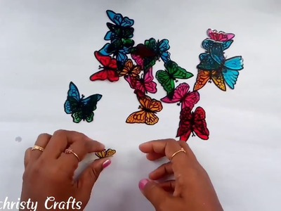How to make butterfly Lampshade from Newspaper