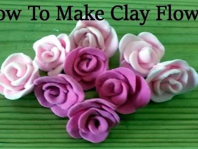 How To Make Clay Flower | Clay Rose | Clay Art