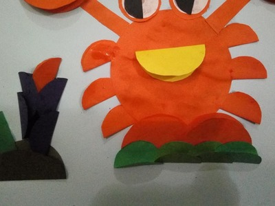 How to make crab by paper | crab art and craft
