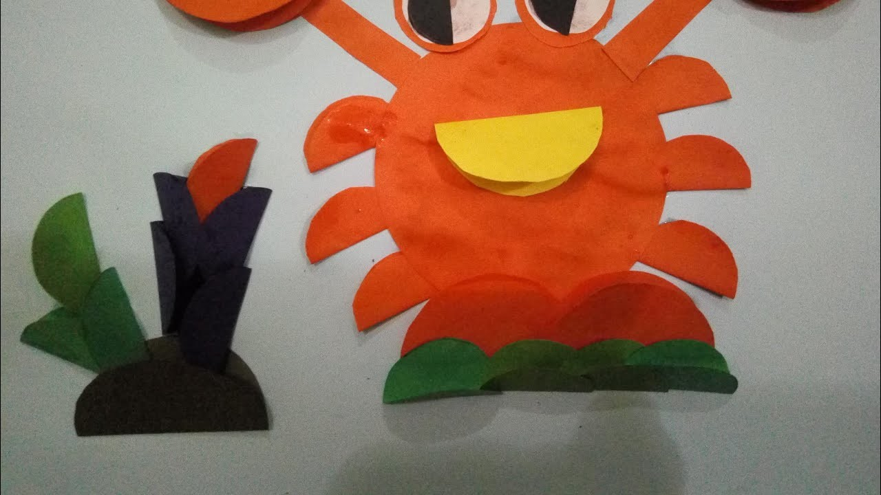 How to make crab by paper   crab art and craft