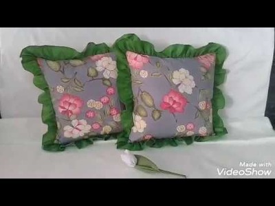 How to make cushion cover ruffle